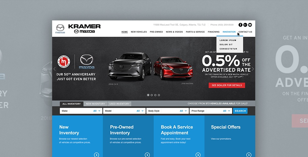 Mazda Dealership Near Me >> Kramer Mazda New Used Mazda Dealership Calgary Ab